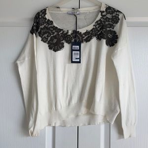 Lou Jo ,Superb sweater with lace